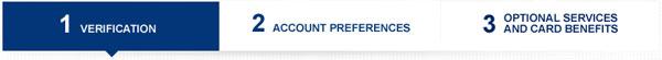 3 steps to create Amex account