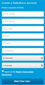 Create a Salesforce account