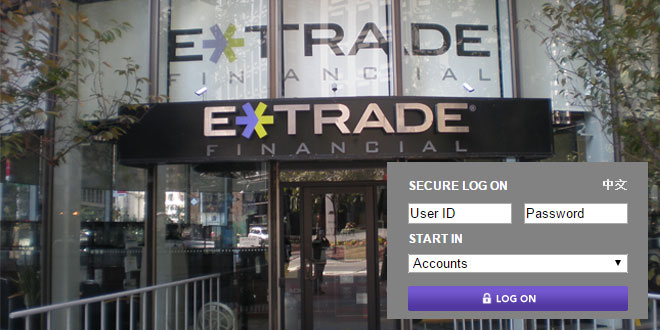 Etrade options link log on