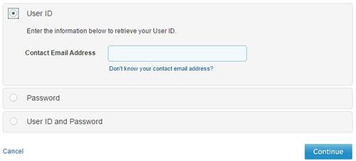 Forgot User ID / Password