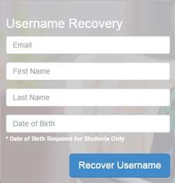 Username Recovery