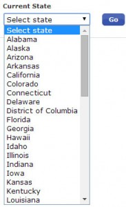 Bank of America : Select Your State