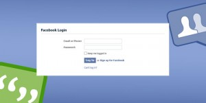 Facebook login Home page