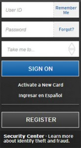 Sign-on to CitiCards