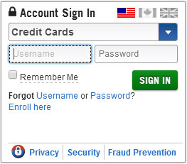 Capital One Credit Card account sign-in
