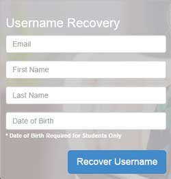 Username Recovery
